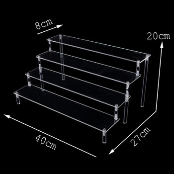 world of warcraft wow resin action figure display toy doll illidan stormrage Action Figure Display Stand Toy Model Display Stand Decoration Put Doll Doll Hand Handle Trapezoidal Shelf Box Accessories