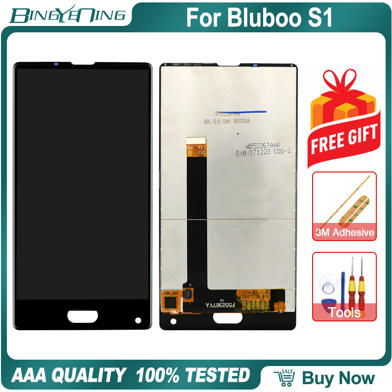 BingYeNing 5.5 For Bluboo S1 LCD&Touch screen Digitizer with frame display Screen phone accessories assembly replacement tools image