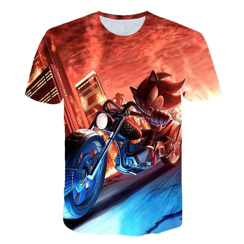 Degli Uomini di estate 3d Super sonic Sonic Vestiti di Stampa Donna 3d Divertente T-Shirt Costume Adulto Vestiti di Estate Magliette Hombre Del Fumetto T-Shirt