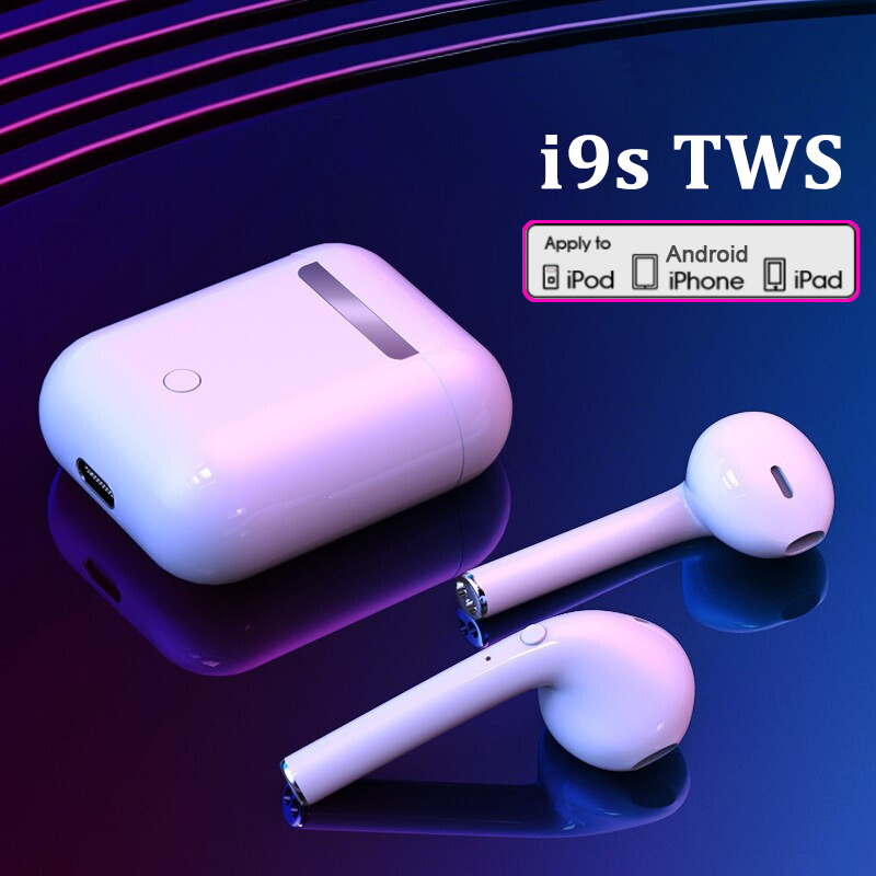 I9s TWS Wireless Headphones Bluetooth 5.0 Earphone Air Earbuds Sport Handsfree Headset With Charging Box For IPhone IOS Android