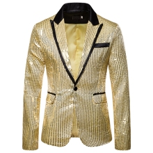 Laamei Male Master Sequins Dresses Stage Costumes Men Suit   Clothing