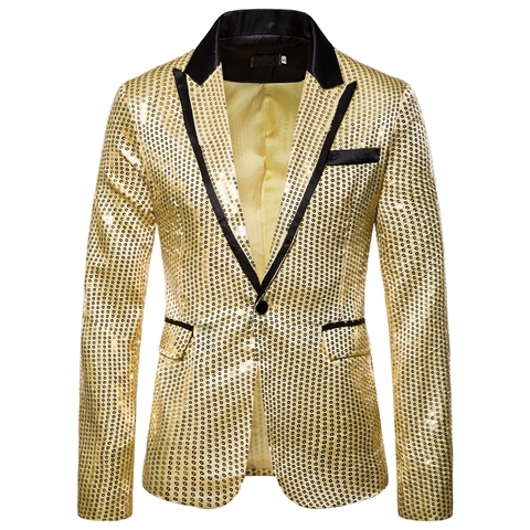 Laamei Male Master Sequins Dresses Stage Costumes Men Suit   Clothing  Suits & Blazer Show Jacket Outerwear Pakistan