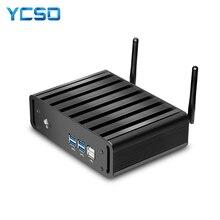 YCSD جهاز كمبيوتر صغير إنتل كور i7 7500U ويندوز 10 8GB DDR3L 240GB SSD 300Mbps واي فاي جيجابت إيثرنت 4K UHD HDMI VGA 6 * USB