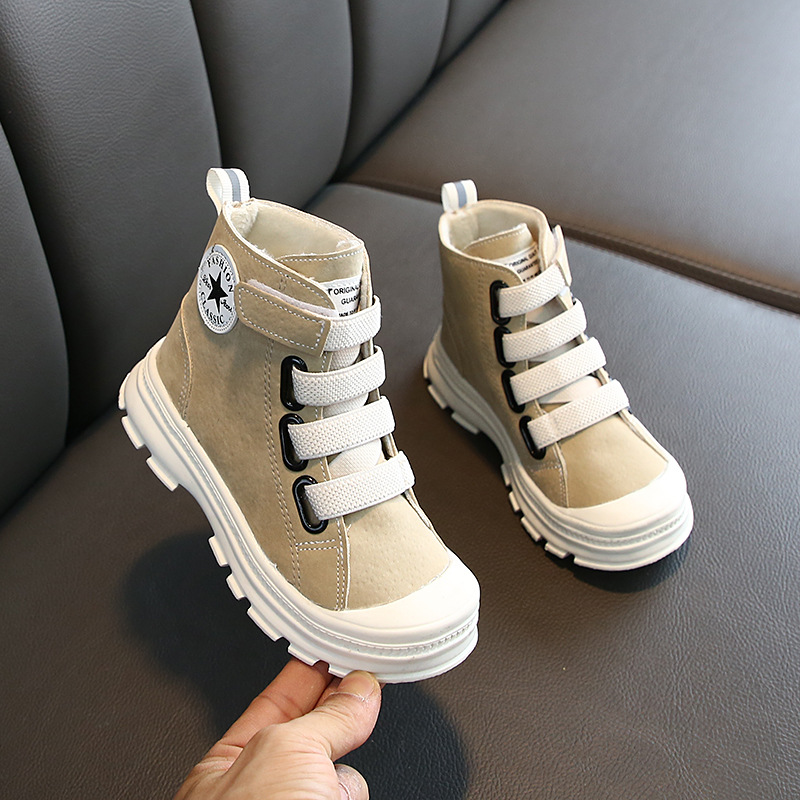 2019 Winter Neutral Suede Martin Boots Increased Children's Boots