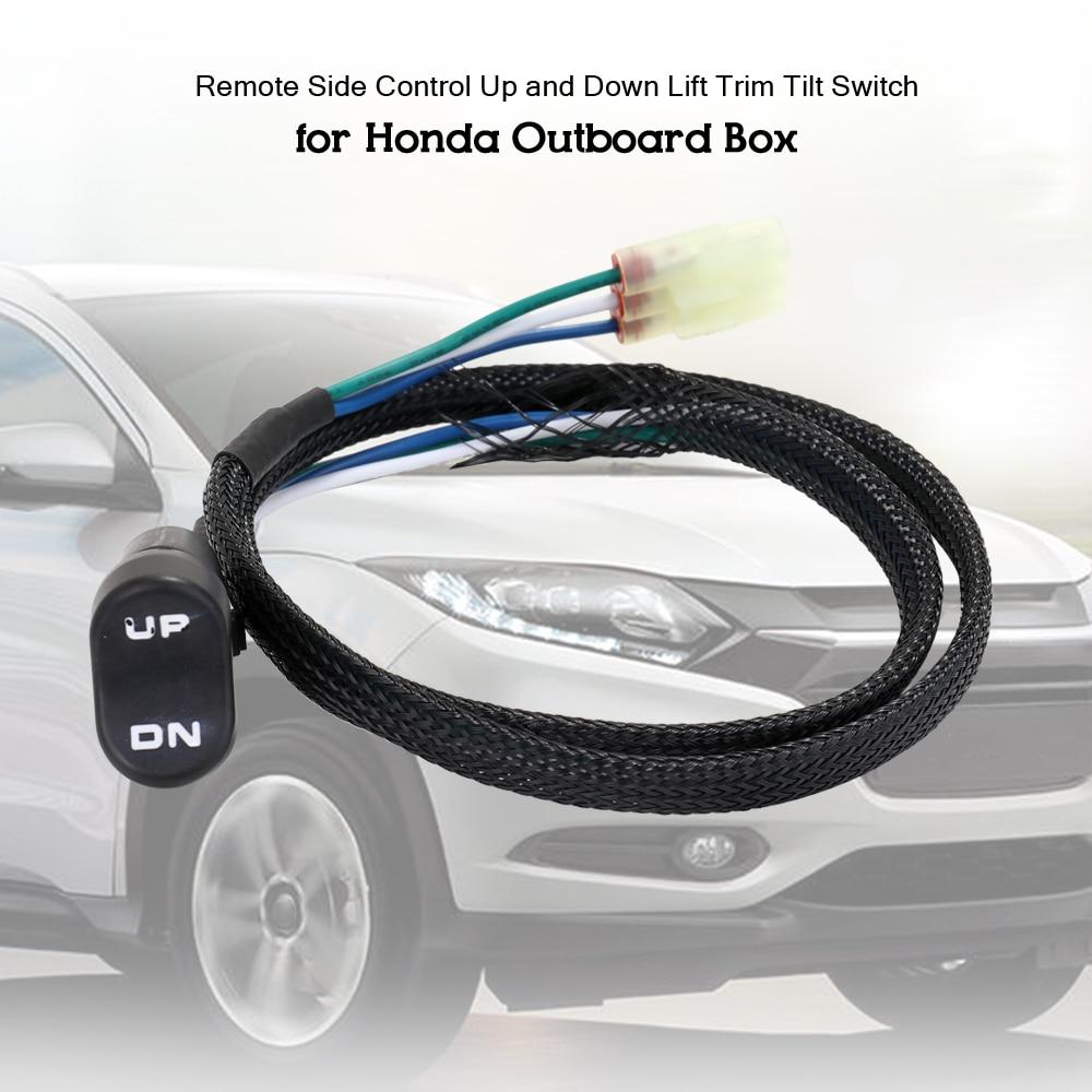 Otomobiller ve Motosikletler'ten Araba Anahtarları ve Röleleri'de Araba aksesuarları uzaktan yan kontrol yukarı ve aşağı kaldırma Trim eğim anahtarı Honda dıştan takma kutusu kontrol kaldırma anahtarı title=