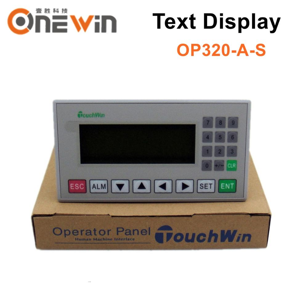 TOUCHWIN XINJE OP320-A-S Text Display Support STN LCD Single Color 20 Keys Support 232 485 Communications Ports