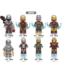 цены Single Sale Building Blocks Super Heroes Iron Man War Machine Action Figures Dolls Learning For Children Toys Gifts DIY X0252