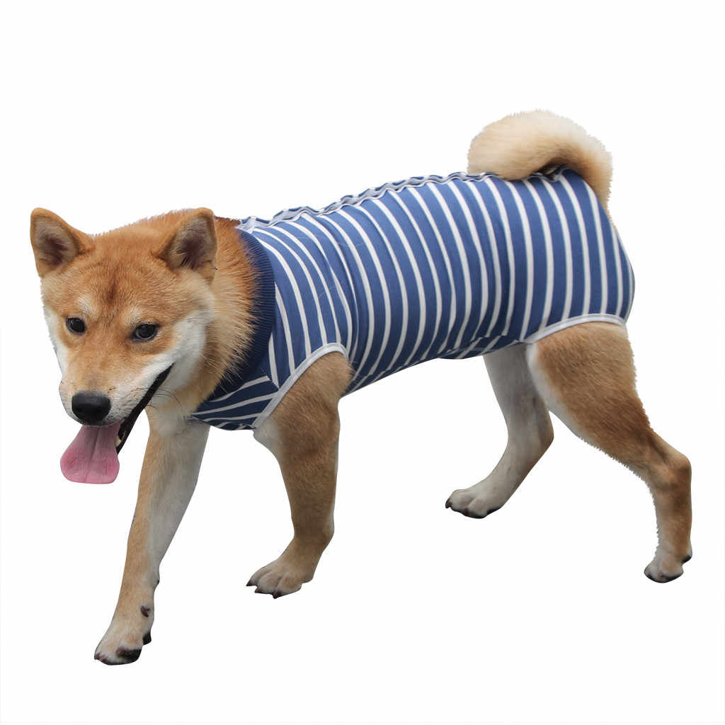Transer Dogs Shirt Fashion Soft Dog Surgery Clothes Medical Pet Surgical Suit Dog Shirt Coat Blue Vest Jersey Perro 19July30 P30
