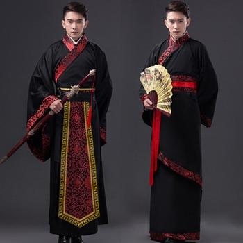 2020 tradycyjna chińska odzież dla mężczyzn buddyjskie szaty kostiumy do tańca Hanfu kostium dynastia Han Man odzież starożytna odzież tanie i dobre opinie COTTON Poliester Suknem chinese robe