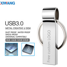 usb flash drive 32gb metal usb 3.0 pen drive 16gb 128gb 64gb 8gb 4gb usb stick pendrive pen drive Gift with key ring Free logo цена и фото