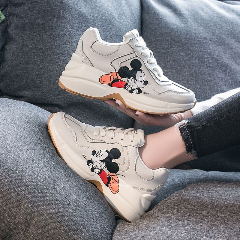 2020 Early Spring New Ins Daddy Shoes Women Mickey Printed Sneakers Tide Thick Bottom Shoes