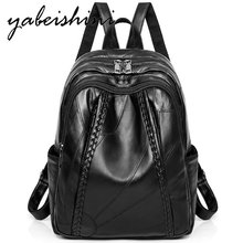 цены Women Backpack woman Genuine Leather Backpack luxury Sheepskin Weaving school bag Multifunction Travel Backpacks shoulder bag