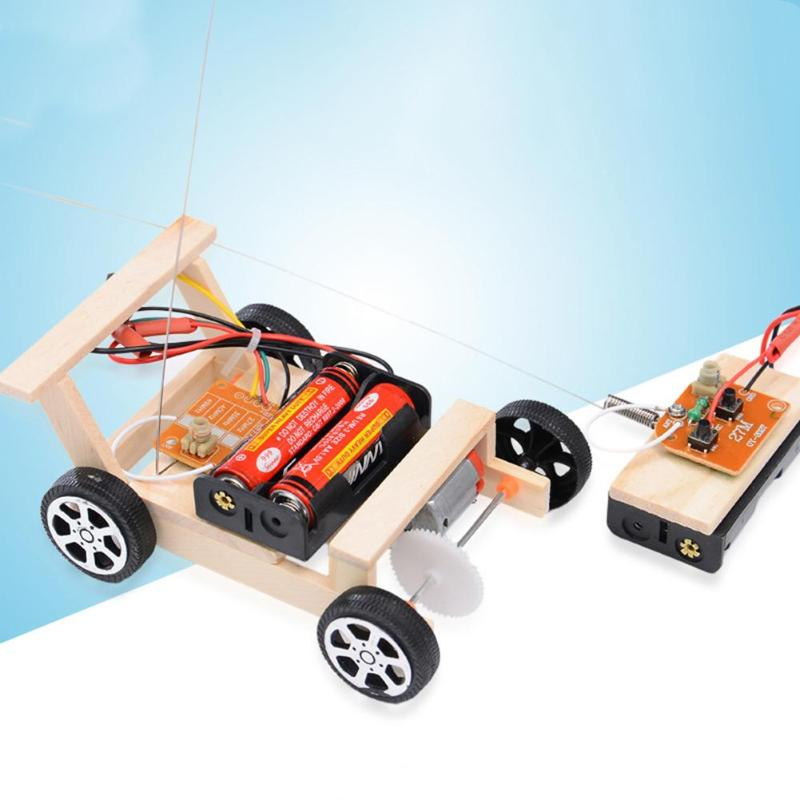 Kids Creative DIY Remote Control Vehicle Car Model Science Experiment Toys Cultural And Educational Supplies