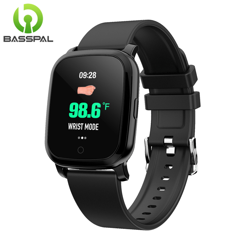 BassPal IR Temperature Detection Smart Watch, Fitness Tracker With Touch Screen Smart Bracelet Heart Rate Blood Pressure Monitor(China)