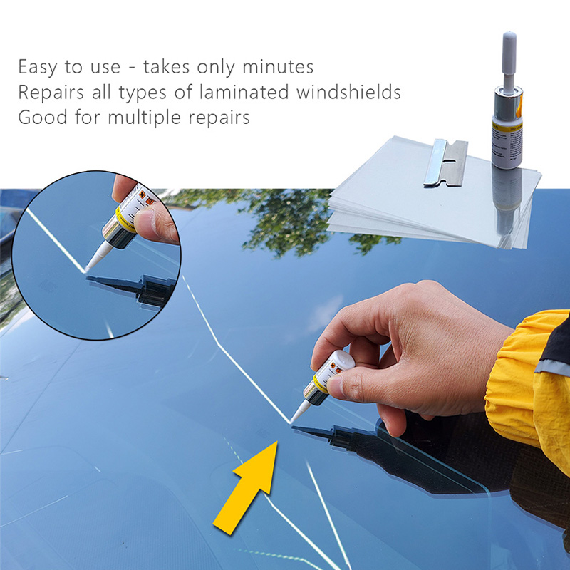 Car Window Repair Tool DIY Car Windshield Repair Tools Window Glass Curing Glue Auto Glass Scratch Crack Restore Kit