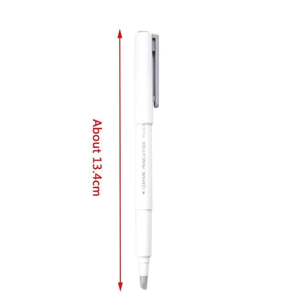 13M Creative Paper Pen Knife Wear-Resisting Newspaper Cutting Book Paper Japan Stationery Blade Knives Tape Ceramic Hand E1K1