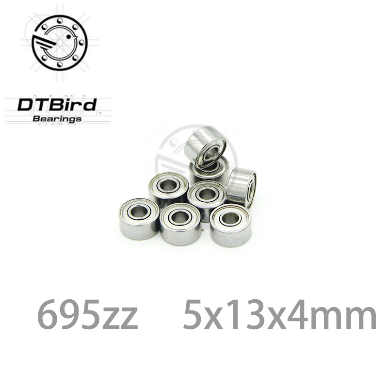 10 x 695ZZ 2 Metal Shielded Ball Bearing 5mm x 13mm x 4mm NEW