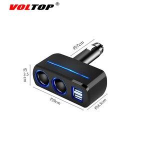 Image 5 - VOLTOP 1 Punto 2 Dual USB cargador de coche adornos de coche accesorios de carga de teléfono encendedor de cigarrillos