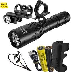 Linterna táctica recargable NITECORE I4000R 4 Led CREE XP-L2 V6, linterna Led de 4400 lúmenes, USB-C con batería de 5000mAh