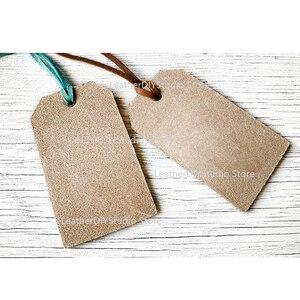 Image 3 - Moule pour bricolage en cuir, poinçon, outil dartisanat 40x80mm, étiquettes pour bagages, lame en cuir, découpe de règle, en acier, 40x80mm