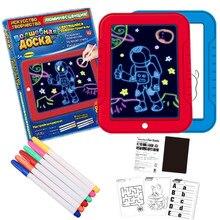 Drawing-Pad Magic Led-Light Luminous-Board 3D with Watercolor-Pen Intellectual Developmen-Toy