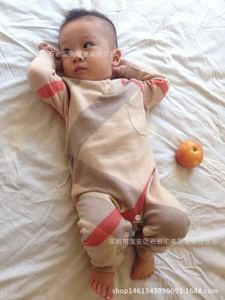Image 2 - New Born Baby Clothes Long Sleeve Winter Fall Spring Set 0 3 Month Rompers Knitting Jumpsuits Plaid Knitted Cotton Clothes A Hat