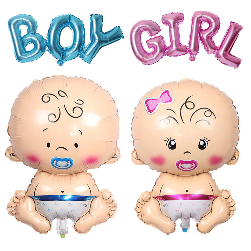 HOUHOM Baby Shower Decorations It's A Boy Girl Gender Reveal Balloon Large Baby Feeder Balloon Birthday Party Decorations Kids(China)