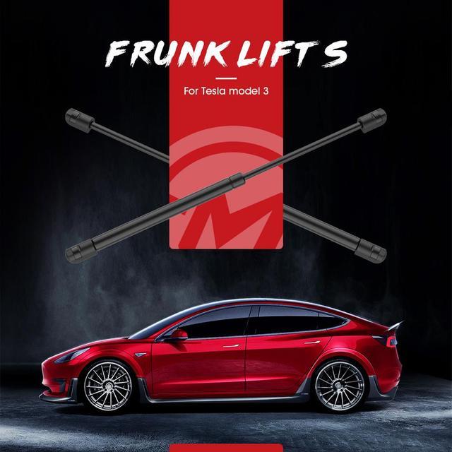 2 uds. De puntales de elevación para maletero trasero de Tesla, Modelo 3, descarga de resorte de Gas, varilla hidráulica de soporte