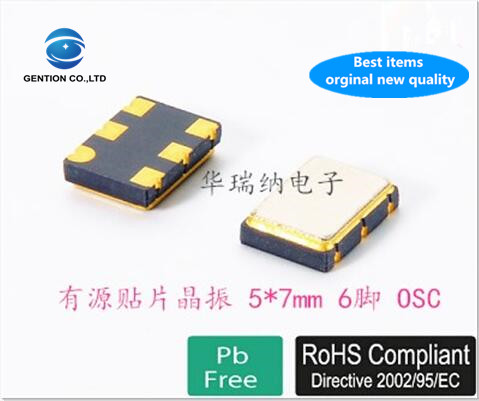 5pcs 100% New And Orginal PDI VCXO Voltage-controlled Active Crystal 5x7 5070 24.576M 24.576MHZ 6-pin 7050