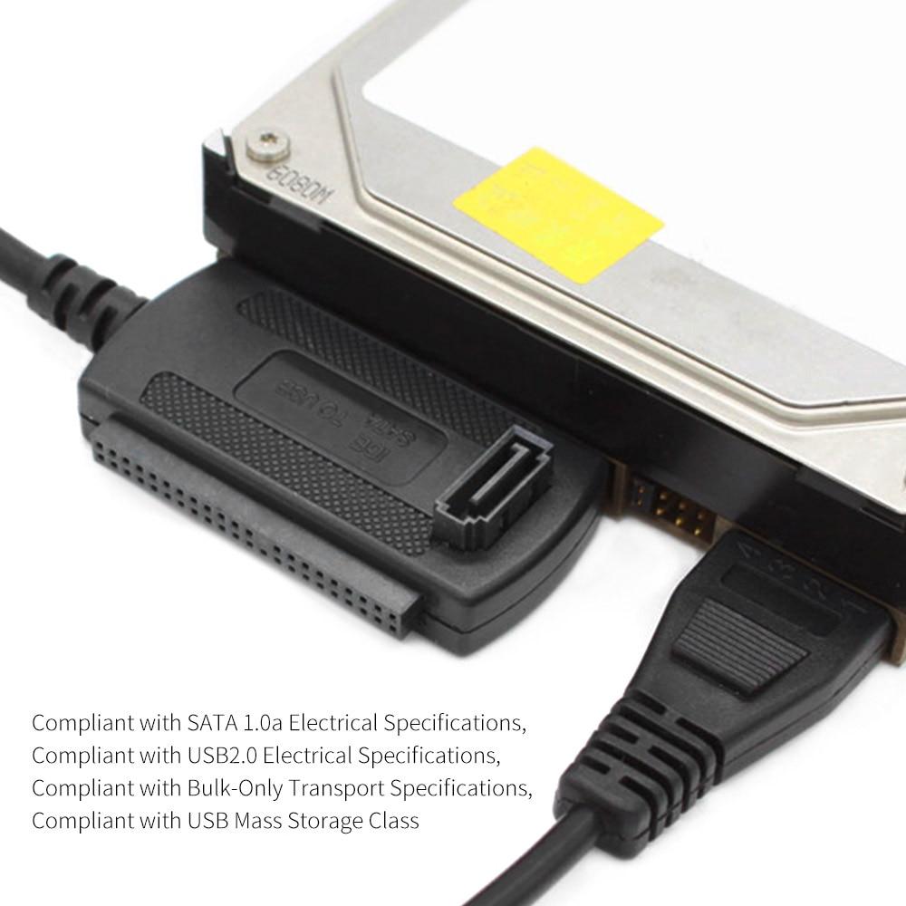 Portable USB 2.0 To IDE/SATA Hard Drive Disk HDD Plug And Play Converter Adapter Cable For ATA/ATAI LBA 48bit Addressing Mode