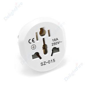 Image 2 - Universal EU Stecker Konverter EU Adapter 2 Runde Pin Buchse AU US UK CN Zu EU Steckdose AC 16A 250V Reise Adapter Hohe Qualität