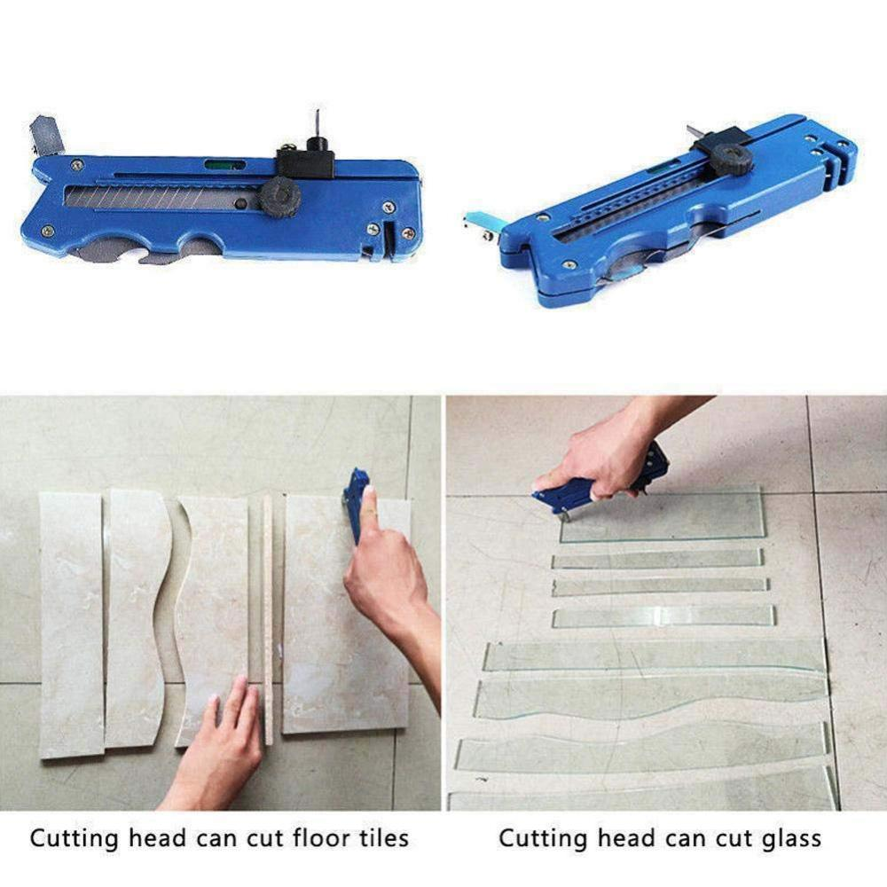 Portable Carbide Alloy 6-Wheel Tipped Tile Glass Cutter Cutting Craft Tool CN