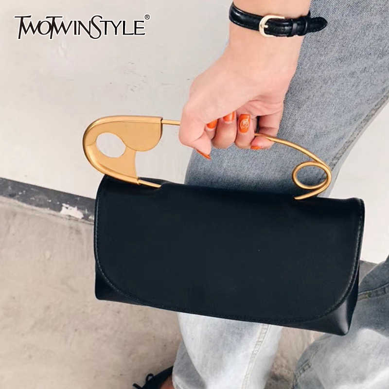 TWOTWINSTYLE Elegant PU Leather Women Belt Patchwork Pin Chic Style Irregular Hit Color Belts For Female 2020 Summer Accessories