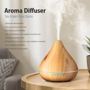 300ML Timing Function Aroma Diffuser Aromatherapy Essential Oil Diffuser Household Ultrasonic Air Humidifier Aroma Diffuser