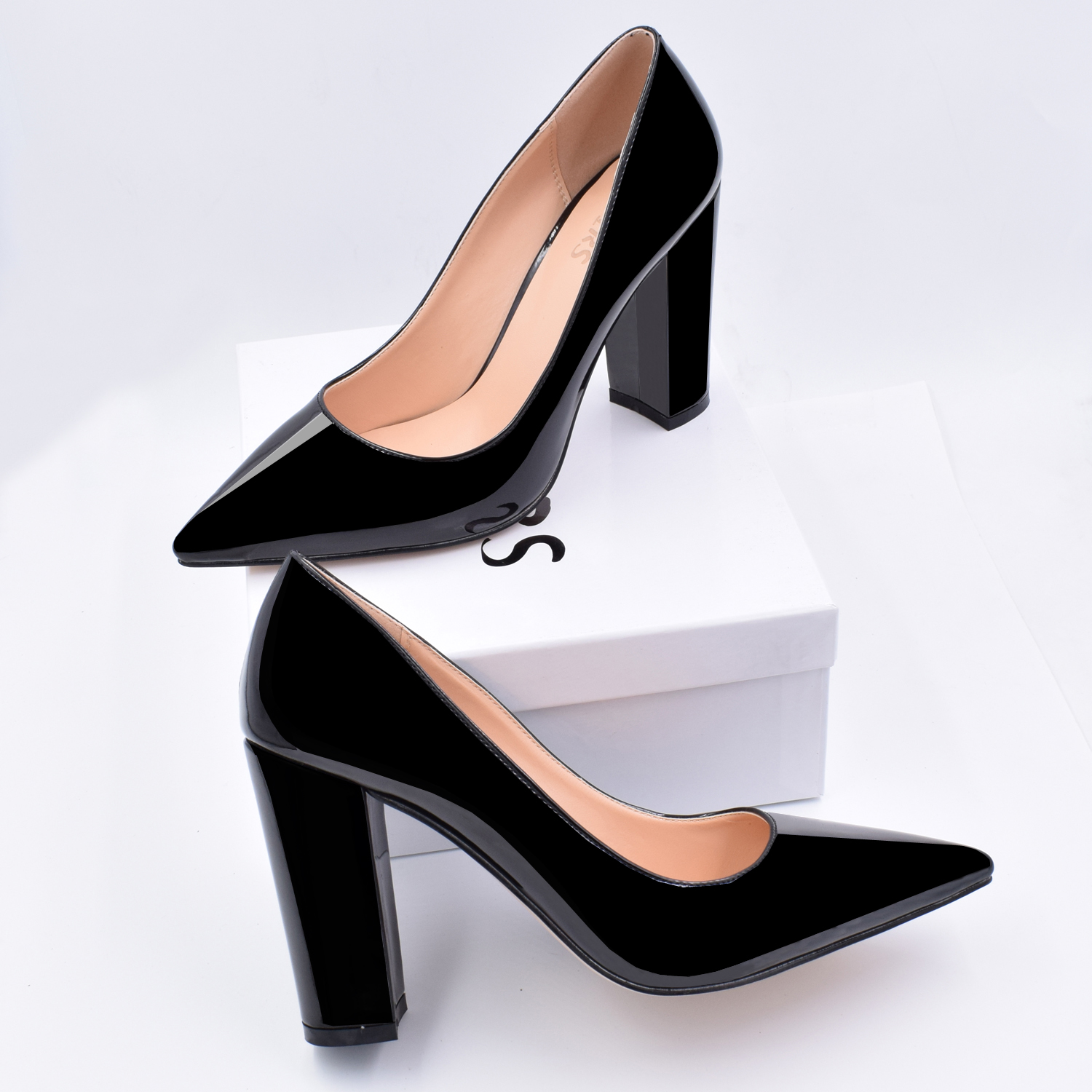 Hot Womens Pointy Toe High Block Heels T-Strap Sandals Pumps Fomral Party Shoes