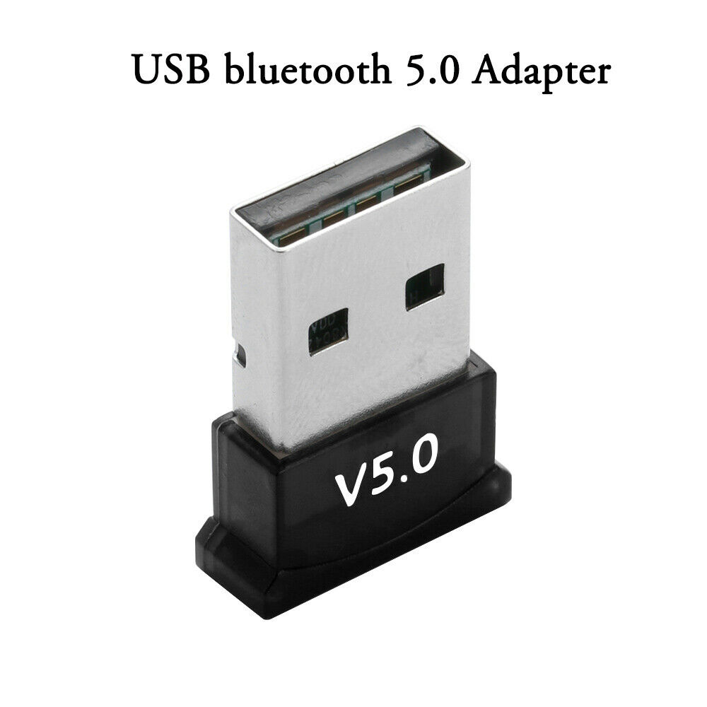 USB Bluetooth 5.0 Adapter Wireless Dongle Stereo Receiver For PC Win 10 8 7/XP
