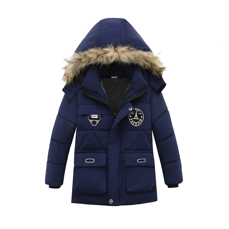 Winter Warm Child Long Coat Children Outerwear Windproof Baby Boys Jackets Kids Outfits For 1-4 Years Old