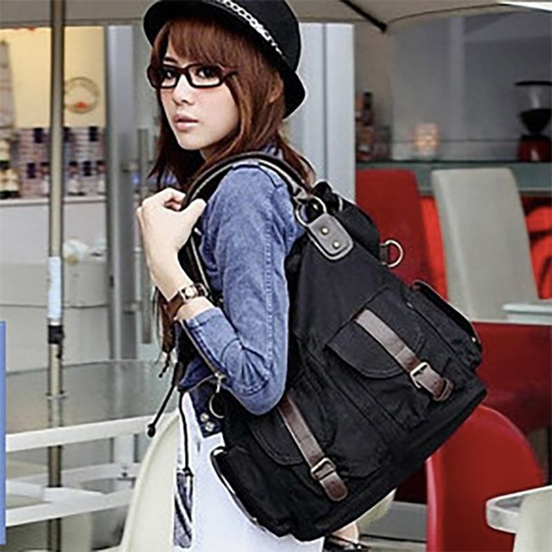 Image 2 - Bolsas Feminina 대용량 포켓 캐주얼 토트 여성 핸드백 숄더 백 캔버스 가죽 용량 여성용 비치 가방 2019숄더 백수화물 & 가방 -