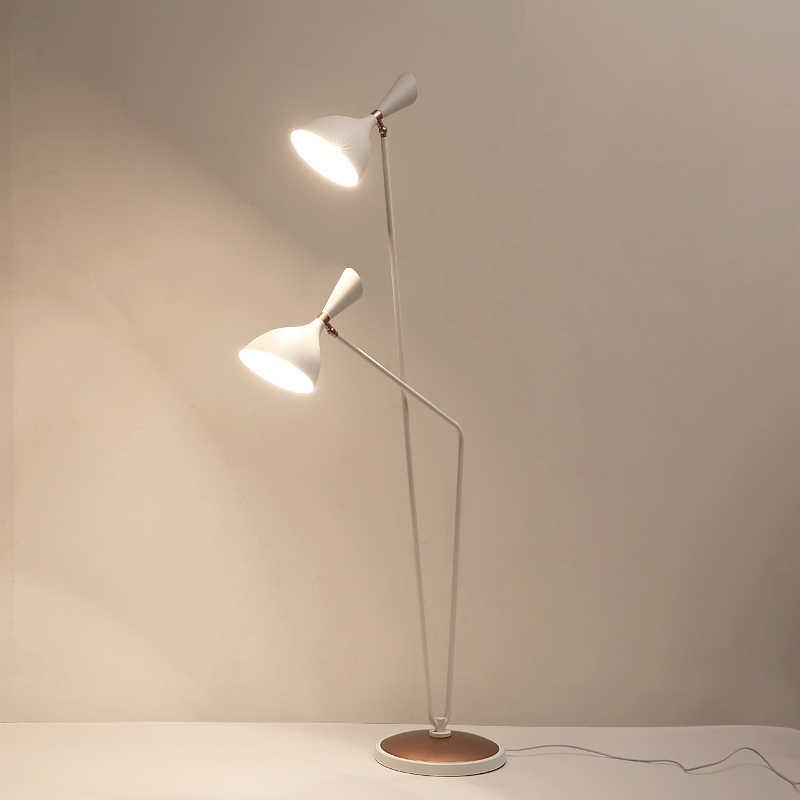 Регулируемый минималистичный Бубль голова черный белый диван для чтения винтажная лампа напольная лампа для гостиной Лофт дома 110V 120V