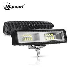NLpearl 6 pollici 48W LED Bar Light Bar Offroad Truck Boat 4x4 Atv trattore Spot Flood 12V 24V LED Work Light Car Driving fendinebbia
