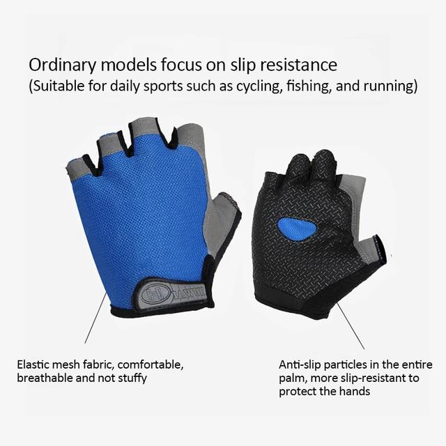 2 pçs luvas de ciclismo anti-derrapante anti-suor masculino feminino metade do dedo luvas respirável anti-choque luvas esportivas mtb bicicleta luva 6