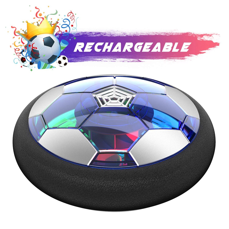 Kids Toys Rechargeable Air Power Soccer Disc Indoor Floating Soccer Ball With Led Light For Boys Girls Toddler