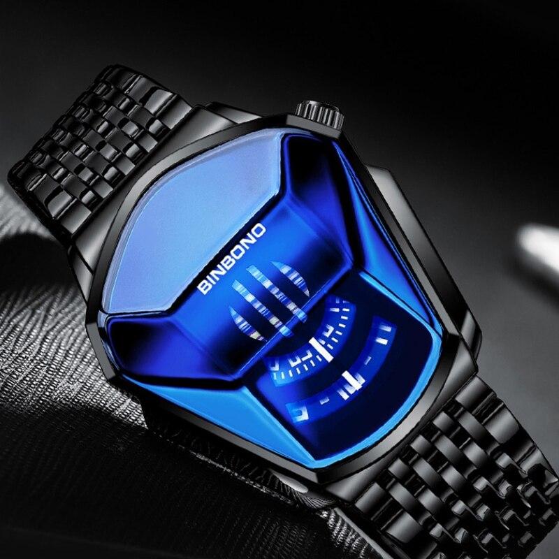 Роскошный модный тренд, спортивные мужские часы, повседневные, стальной ремешок, черные технологии, часы Milano, водонепроницаемые, кварцевые часы, Montres Homme|Спортивные часы| | АлиЭкспресс