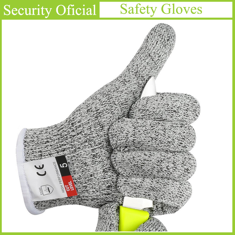 Anti-Cut Gloves EN388 Cut-Resistant Level 5 Safety Cut Proof Stab Resistant Self Defense Supplies Kitchen Butcher Safety Gloves