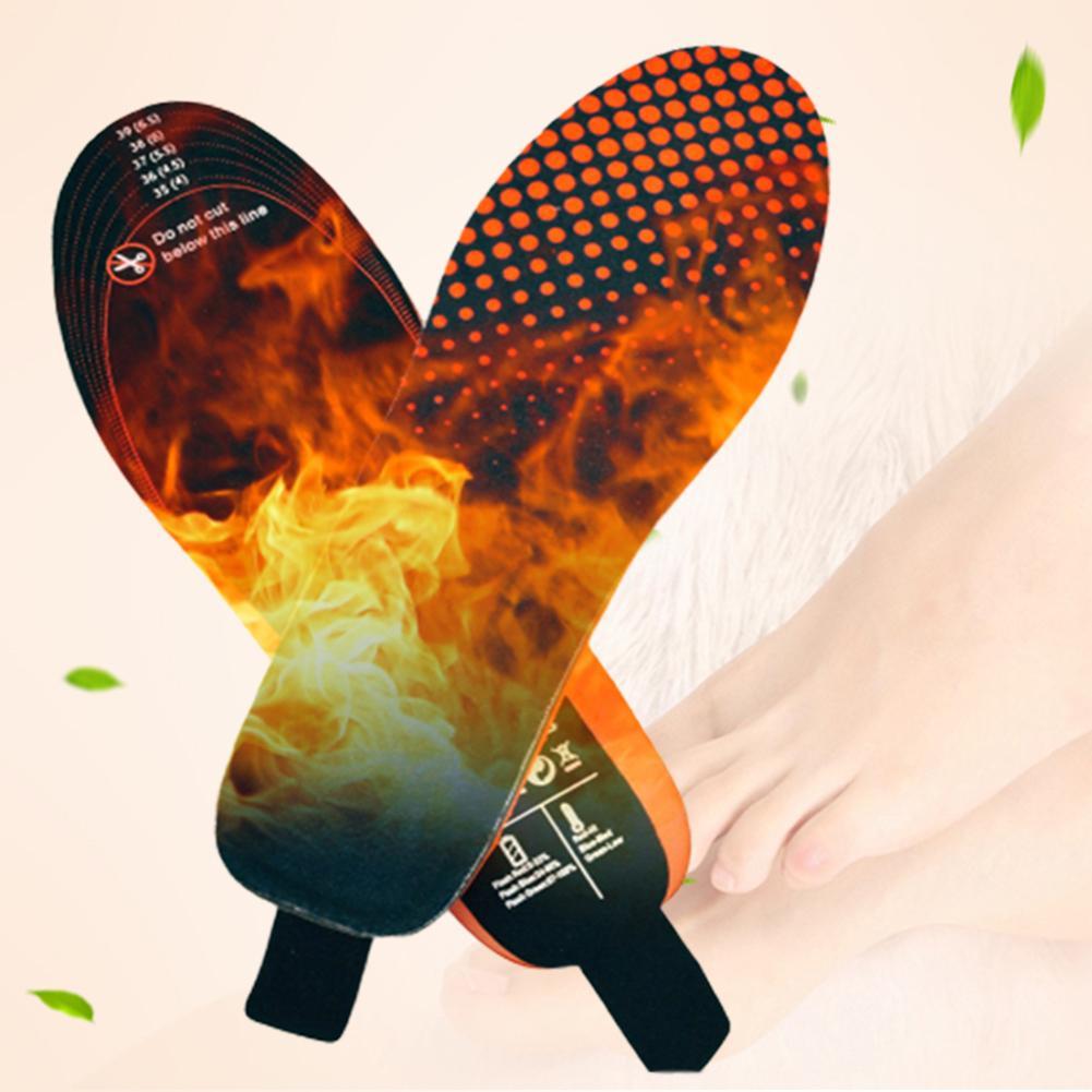 Palmilhas de Aquecimento Almofada para Circulação Elétrico Recarregável Controle Remoto Inverno Térmico Aquecido Palmilhas Manter Sapatos Quentes Sanguínea