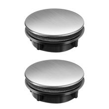 Kitchen Faucet Sink Tap-Hole-Cover Home 2pcs 25-30mm-Hole Stainless-Steel STOBOK