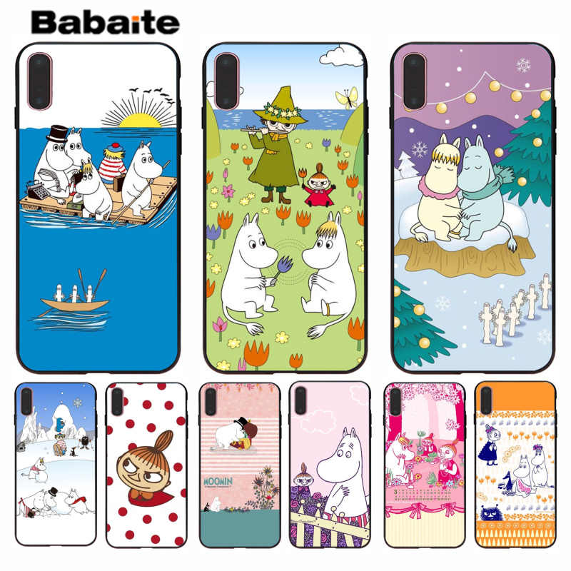 Babaite Moomin Pouco Projeto Popular Caso Shell capa para iPhone 5 8 7 6 6S Plus 5S SE XR X XS MAX Coque Shell