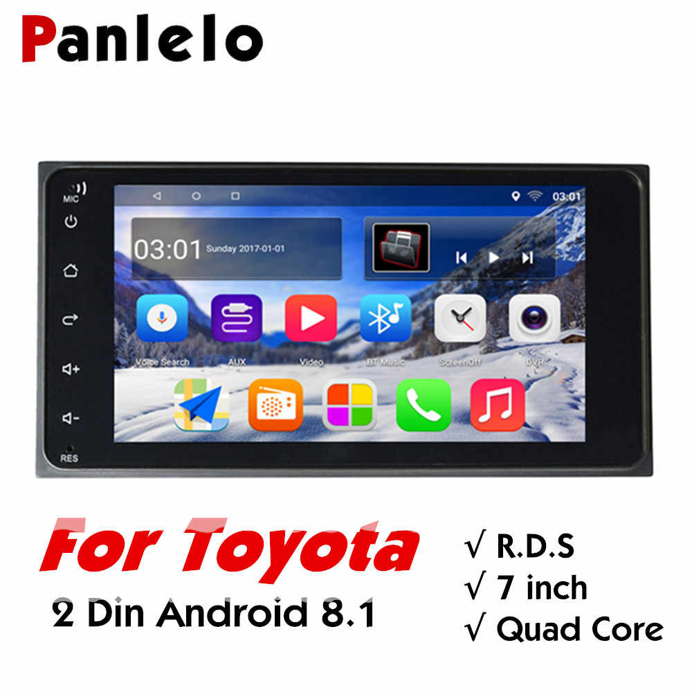 "Panlelo S11 For Toyota 2 Din Android Car Stereo 7"" 1080P Autoradio Quad Core 2din Android Head Unit GPS Navigation 200*100 Radio"