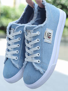 Canvas Shoes Flats Trainers Women Sneakers Feminino Big-Size Fashion Summer Tenis Lace-Up