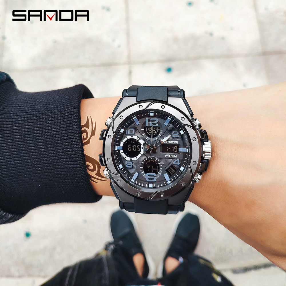 Hf149c77b03f34a489ccf7dd9dcb4a3efx SANAD Top Brand Luxury Men's Military Sports Watches 5ATM Waterproof